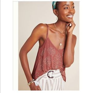 Anthropologie Maroon Sparkly Top